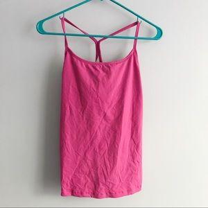 Lululemon Pink Racerback Workout Tank